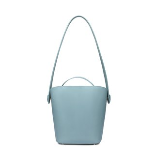Blue cowhide bucket honey color tote bag two in one detachable independent mother bag large capacity shoulder bag