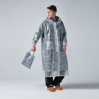 BAOGANI double raincoat - camouflage (iron grey)