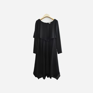 Dislocation vintage / chiffon black dress no.905 vintage