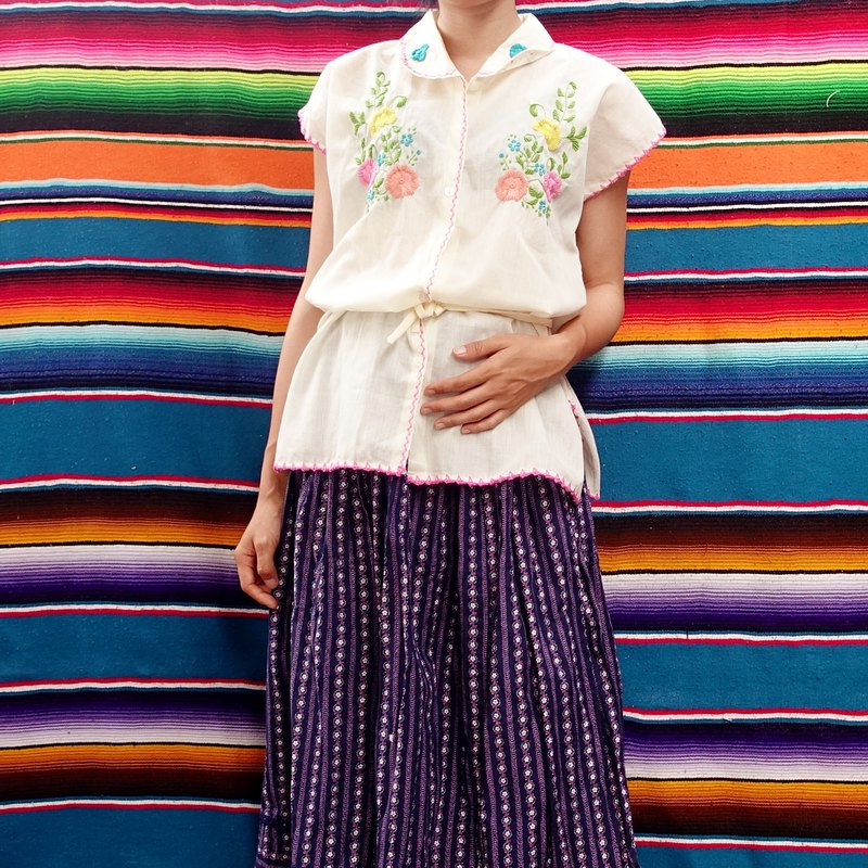 BajuTua/古着/Philippine Spanish colonial style hand-embroidered shirt