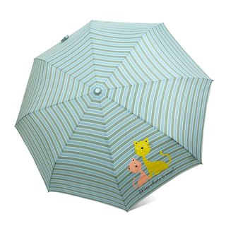 【Taiwan Wen Chong Rain's talk】 naughty cat anti-UV three fold automatically open umbrella