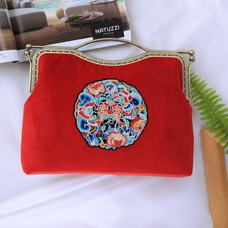 Embroidered Tote Wedding Bag Messenger Bag Retro Handbag