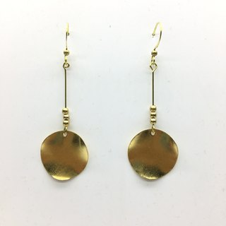 Laolin groceries Travelin-hand made brass earrings copper piece small ball ear hook l ear pin l ear clip