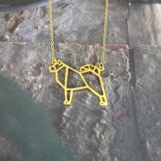 Alskan Malamute, Origami, Dog Necklace, Pet Jewelry, Dog Lover, Dog gifts