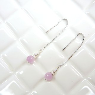 Elegant fashion purple lime 925 silver earrings earrings