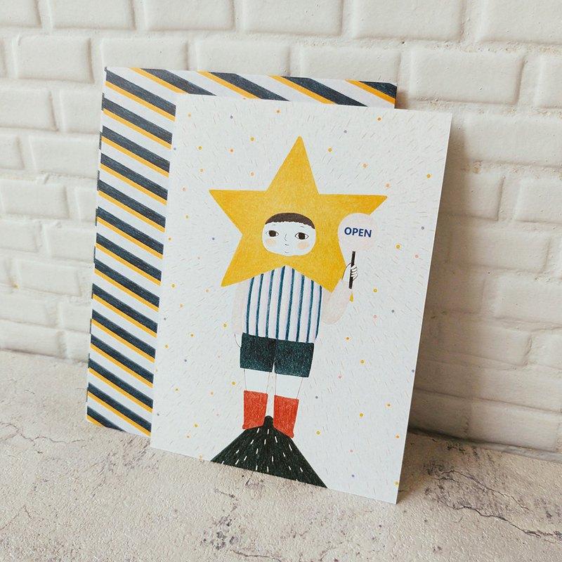 聖誕明信片-孤獨的星星