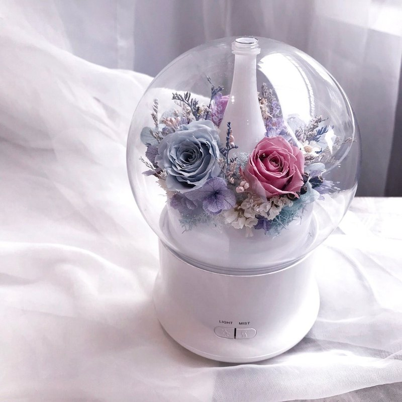 Eternal Flower Aromatherapy (Purple Blue) Fragrance Essential Oil Night Lights Everlasting Flower Christmas Gifts