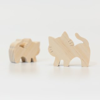 wagaZOO thick cut modeling building block farm series - lazy cat