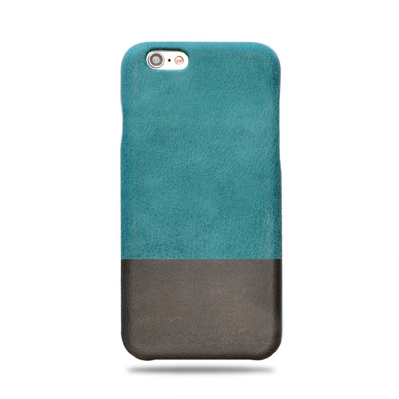 Customized blue color with light gray leather IPHONE 6 phone case