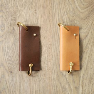 Vegetable tanned leather brass key case classification puts a good helper