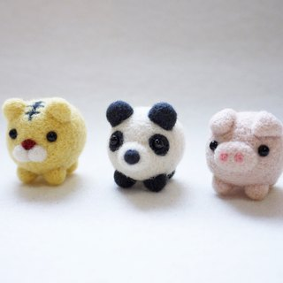 Petwoolfelt - Needle-felted Tiger/Panda/Pig accessories