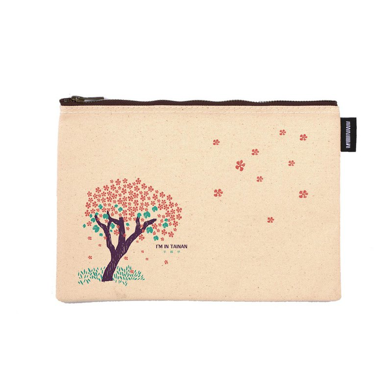 Tainan is a flower series original design synthetic canvas zipper bag