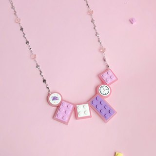 Girl  Ice Cream Pink LEGO Necklace