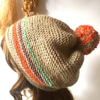 Not the ugly duckling becomes a swan wool hat / hand-made caps / warm knit hats handmade〗 〖crazy hopscotch