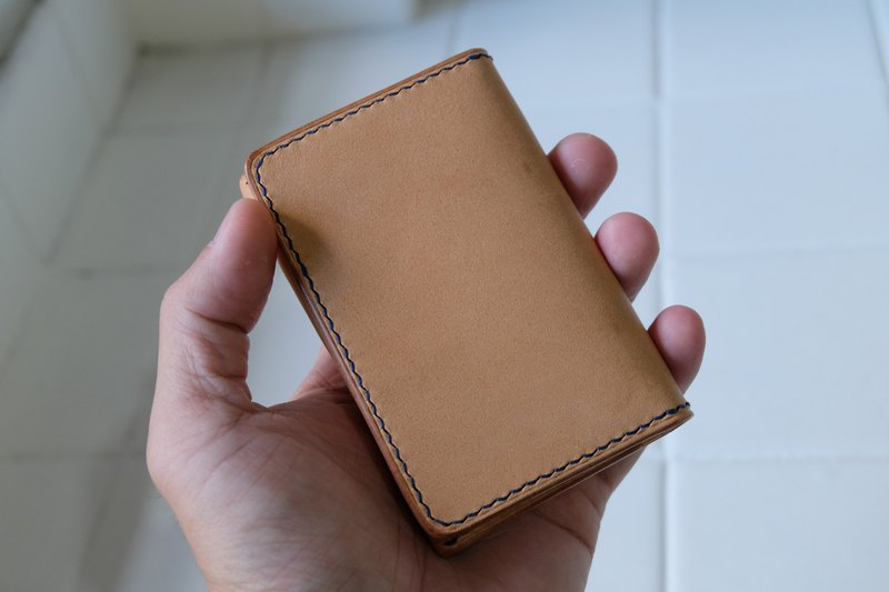Hand-stitched leather business card holder / card holder Italian 鞣 鞣 horse skin