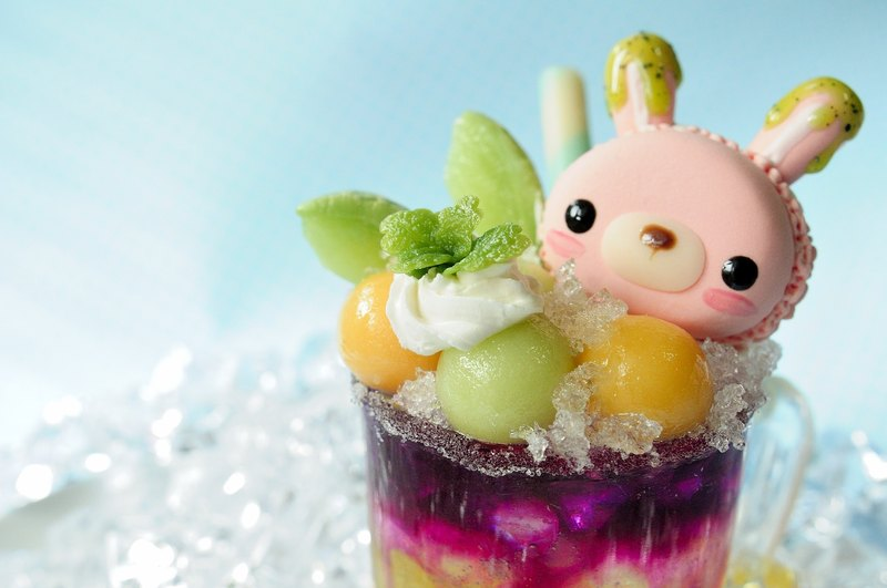Sweet Dream ☆ Summer Star ☆ rabbit Macaron dream gradient fruit cup / pure decoration / birthday ceremony
