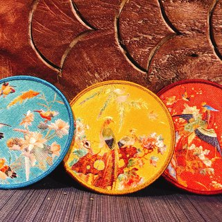 Flower and Bird Embroidery Coaster (3 colors)