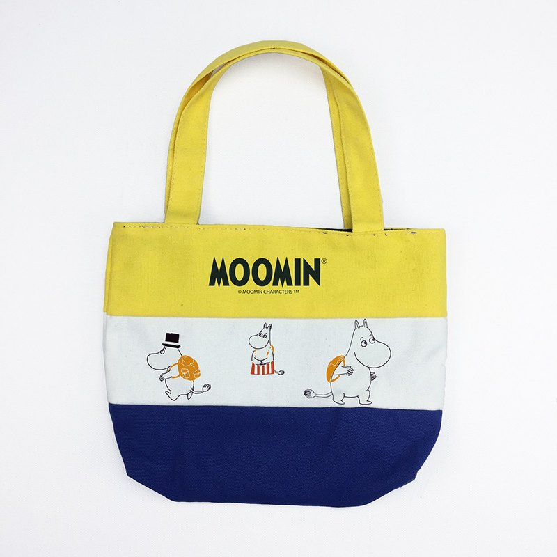 Moomin 噜噜米 authorized - two-color small tote bag (yellow white blue), AE02