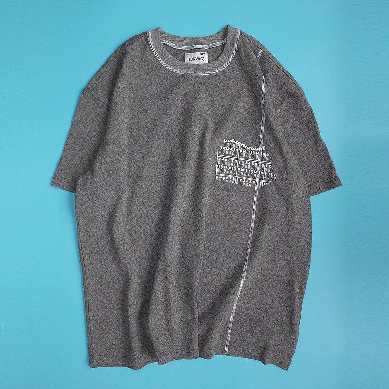 2020ss 撞色線重磅寬松短袖TEE圓領T恤男女 TDNW(C)