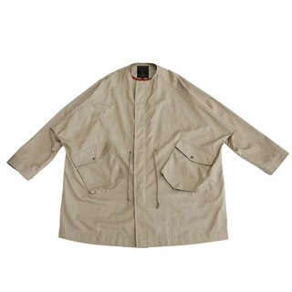 Raglan Sleeve Collarless Large Jacket