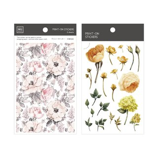 [Print-On Stickers] | Flower Series 12 - Flowers | Handbook, DIY Friends