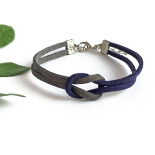 Handmade Simple Stylish Bracelets–grey and blue limited