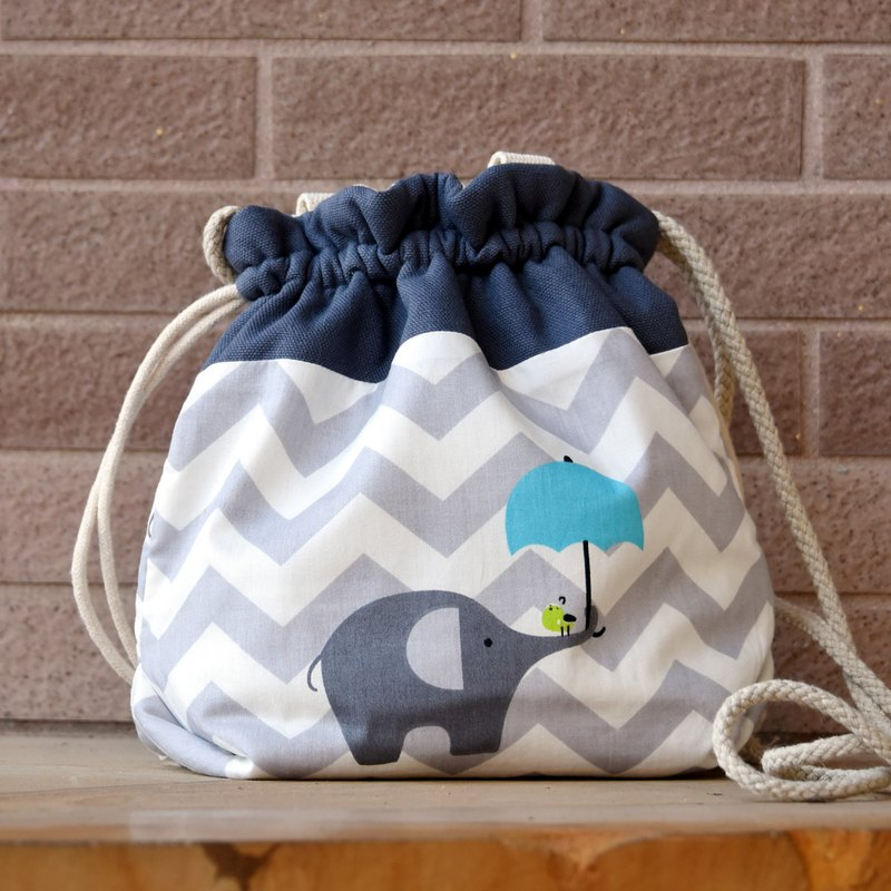 3-in-1 Shoulder/Slant Back/Hand Strap Bucket Bag ~ Elephant (A45)