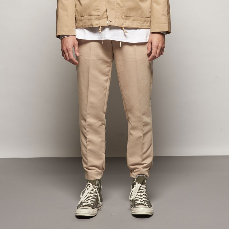 Stone'As Cropped Chino Trousers / Casual Pants Khaki Pants Work Pants