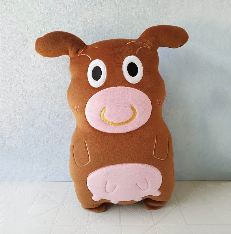 Accompanying Doll-腼腆 Taiwanese Cow│Car Pillow│Sofa Pillow