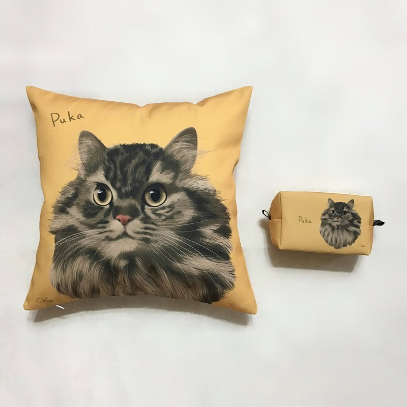 Customized Pet Surprise Portfolio | Pillow + Makeup Bag
