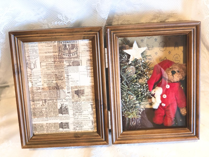 Christmas tree bear photo frame