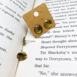 △ yellow abalone shell earrings - Banana Poetry