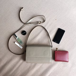 SUBMARINE V.2 - MINIMAL LEATHER SHOULDER BAG/CLUTCH/HANDBAG - TAUPE (PINK GREY)