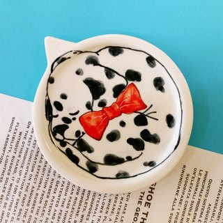 Birthday gift preferred Dalmatian dog group underglaze painted pinch pot modeling tray