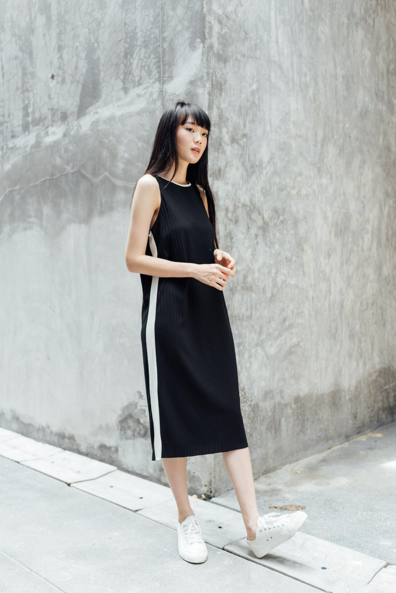 Dress Color Block - Black