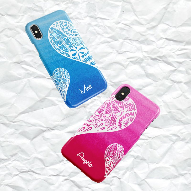Couple customized Zen wind phone case - add word / change color / let you combine
