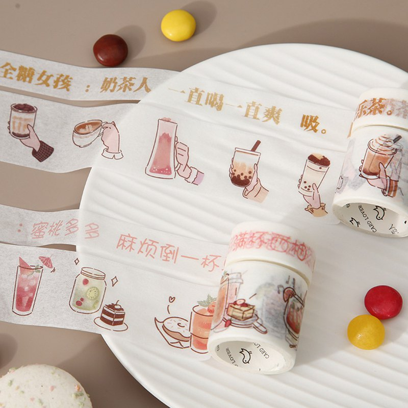 Letter of lovers and paper tape set food series creative cute hand book decoration collage hand account material