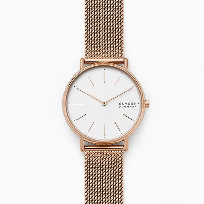 Signatur Rose Gold Milan Strap Watch - SKW2784
