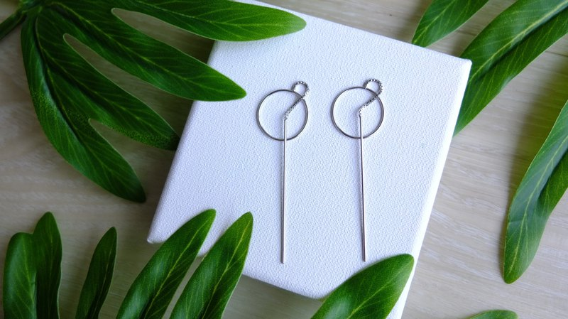 Hi Earrings 0113, 925 sterling silver