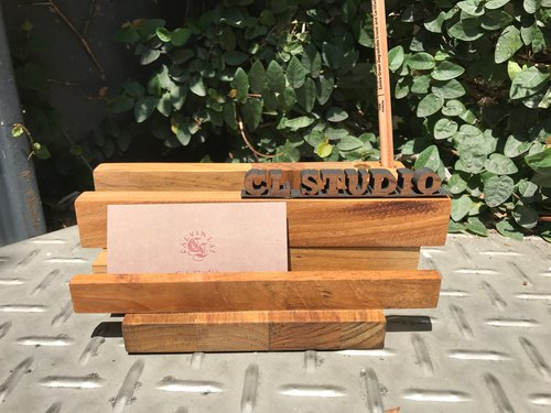 CL Studio [Modern Simple - Geometric Style Wooden Phone Stand / Business Card Holder] N101