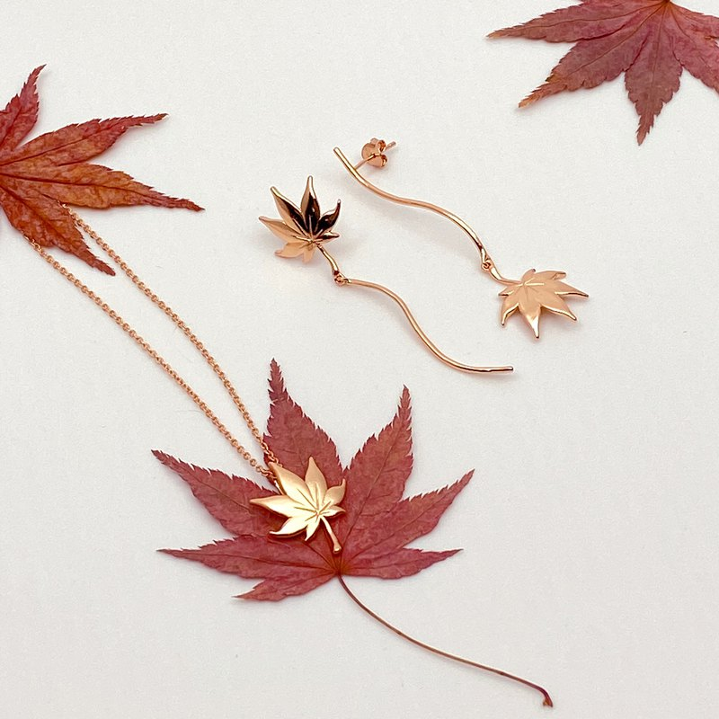 Goody Bag | Autumn Japanese Maple Leaf 18K Rose Gold Jewellery