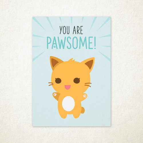 Purrballs Greeting Card - You Are Pawsome