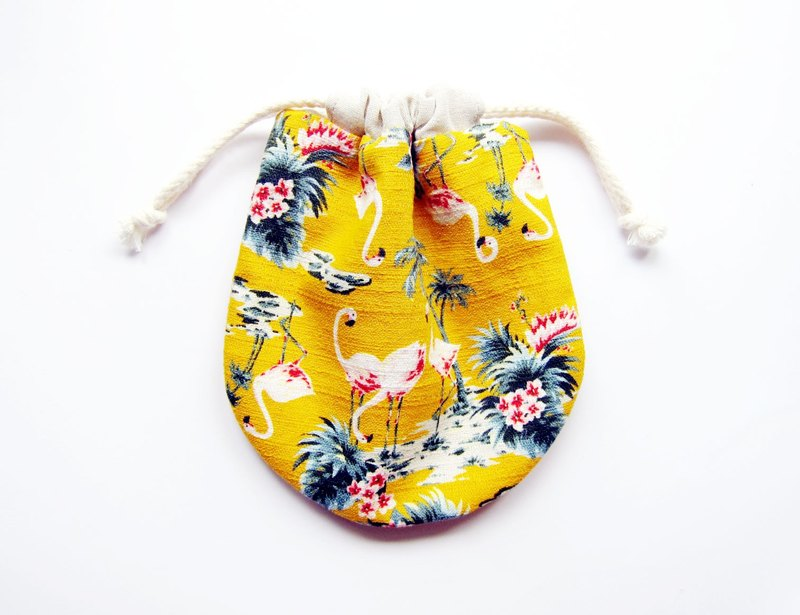 Drawstring pocket storage bag small bag red dragonfly can also choose other coin purse fabric pattern