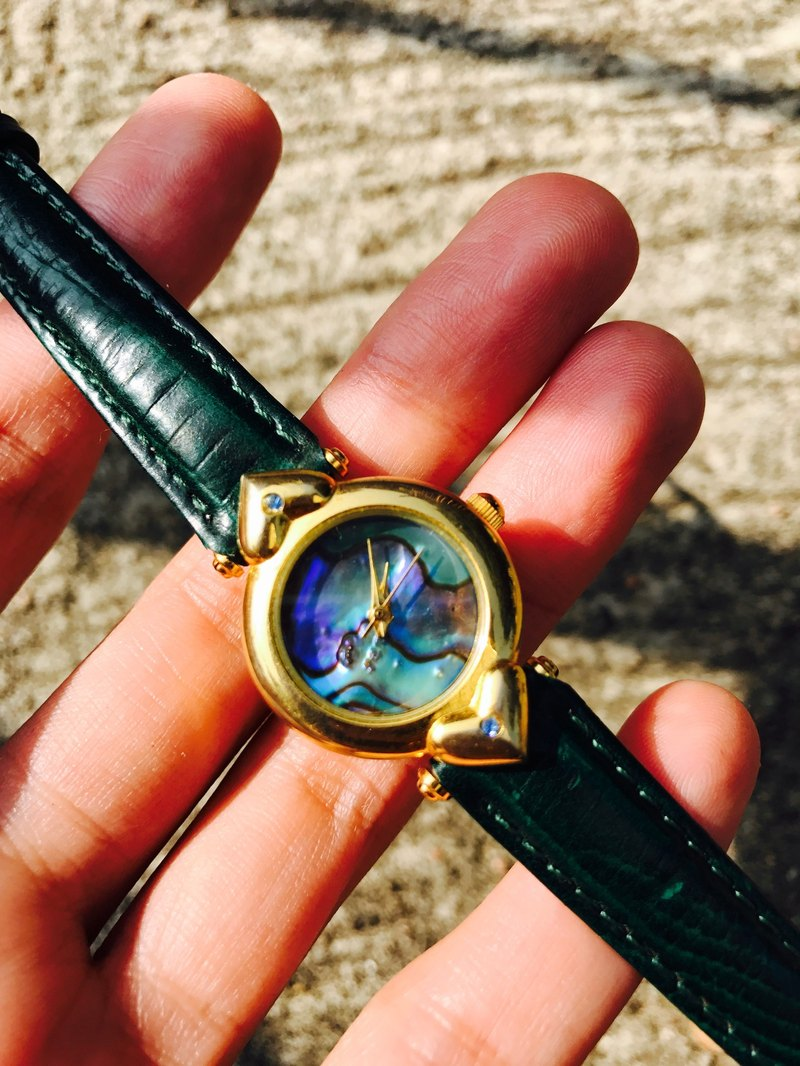 【Lost And Find】 Natural heart shaped abalone  watch
