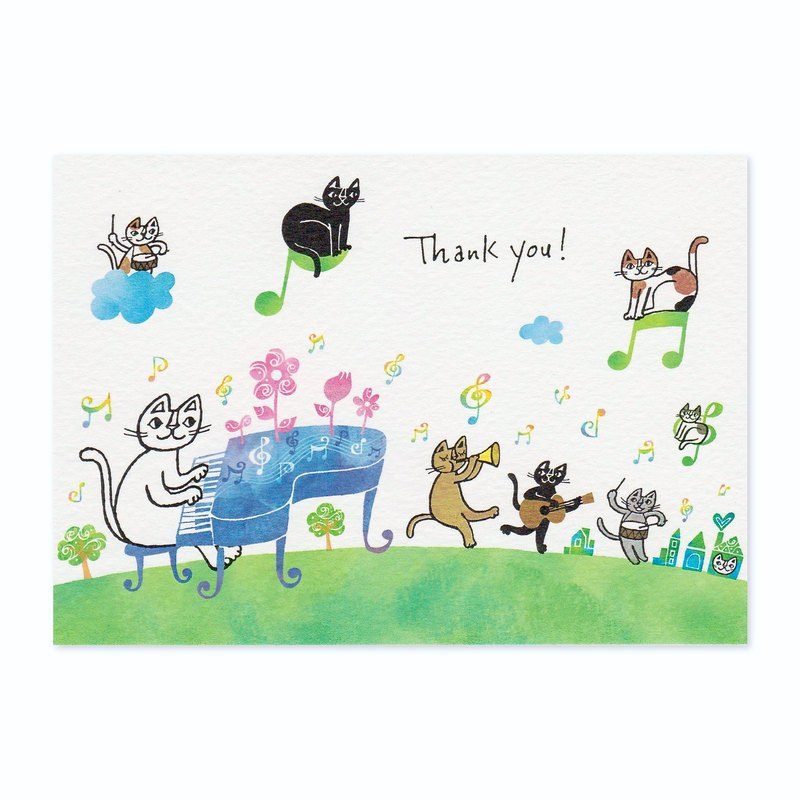 "Okabe Tetsuro Cat Thank You Card ""Thank You! I Always Appreciate You"""