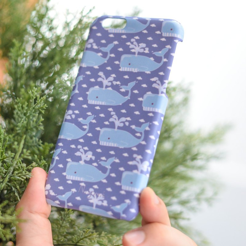 The whales iphone case for iphone5s, 6s, 6s plus, 7, 7+, 8, 8+, iphone x