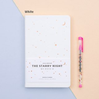 The Starry Night Calendar / Account - White