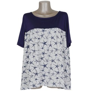 Starfish print cut and sewn <navy>