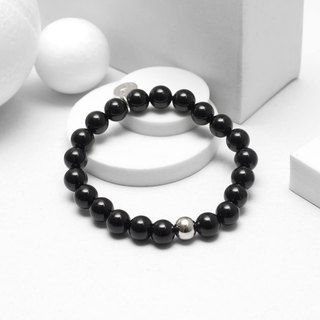 Recovery Bright 8MM Beaded Bracelet (Black)