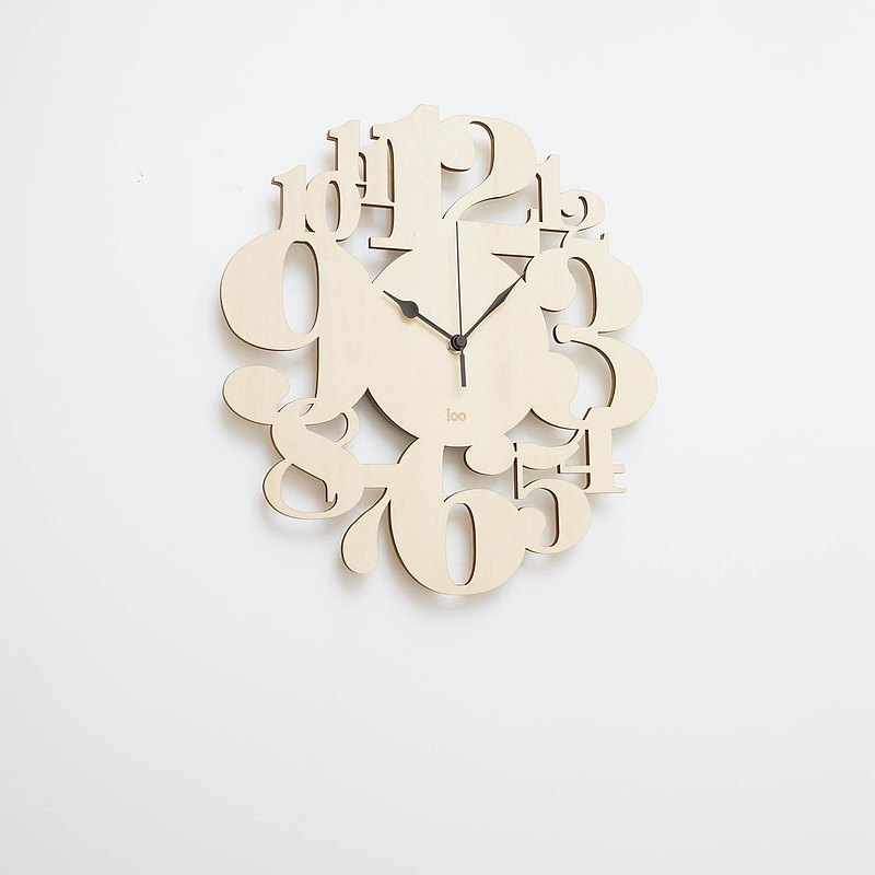 Wood Made Wall Clock Number Forest